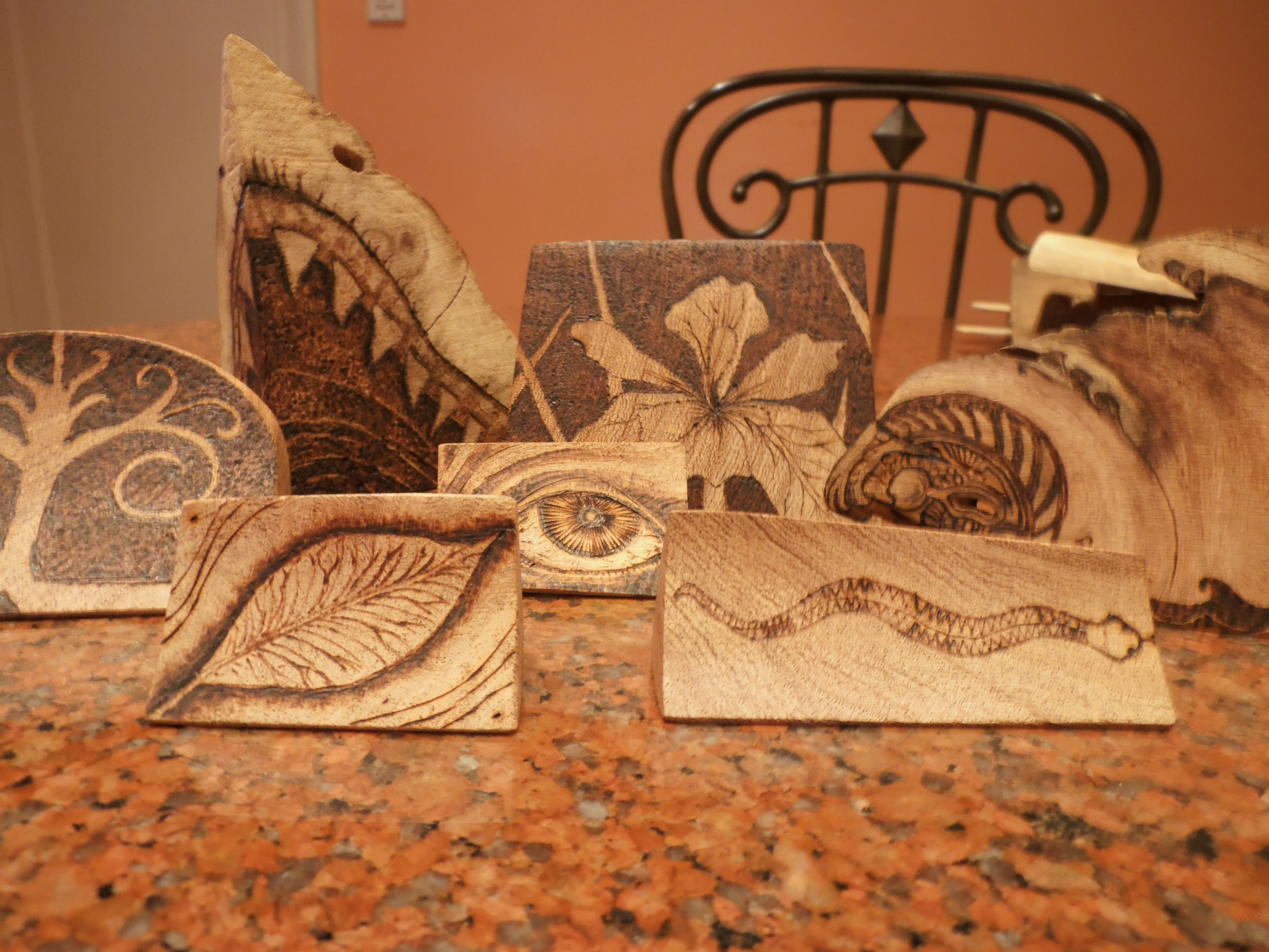 Stand Designs : Pyrography sevswoodcrafts